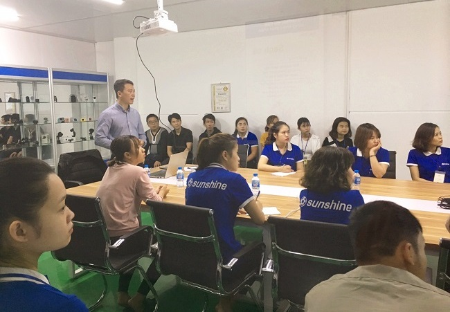 Training in Occupation Safety for the staff at Sunshine Vietnam Electronics Co., Ltd.